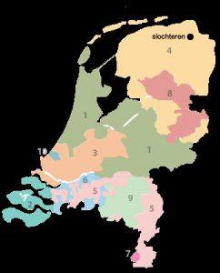 Gasregio's nederland