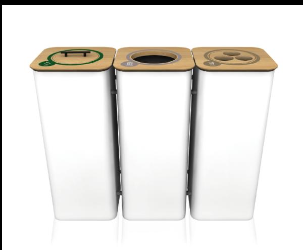 Afvalbakken kantoor koppelen modulair